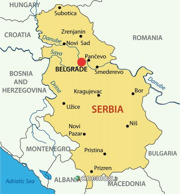 Cosa vedere a Belgrado, mappa
