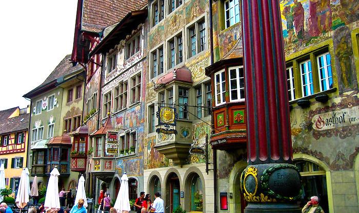 Stein am Rhein, veduta centro storico