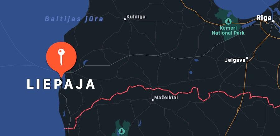 Cosa vedere a Liepaja, mappa