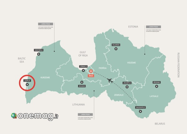 Mappa di Liepaja