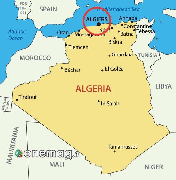 Mappa di Algeri