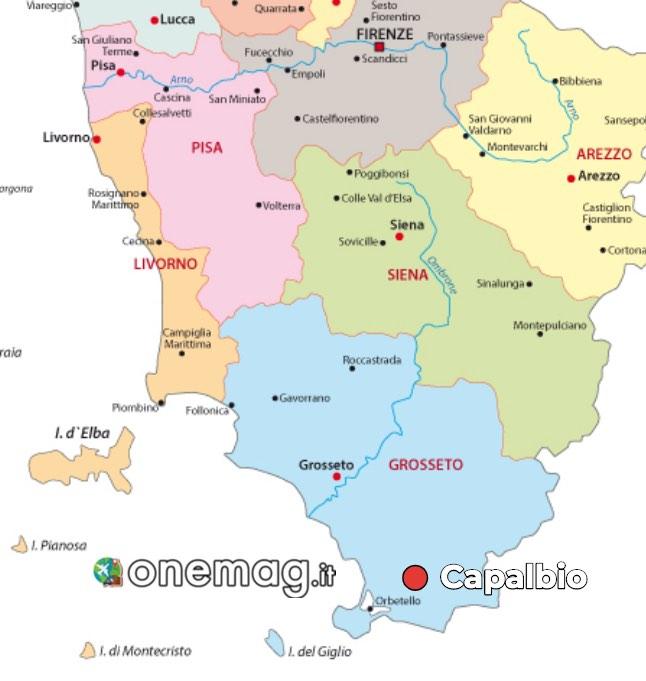 Mappa di Capalbio