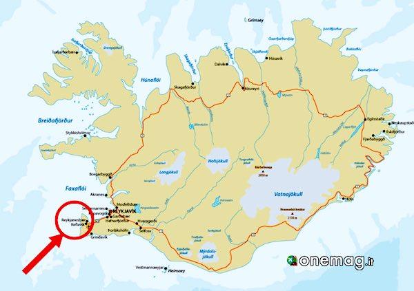 Mappa di Keflavik