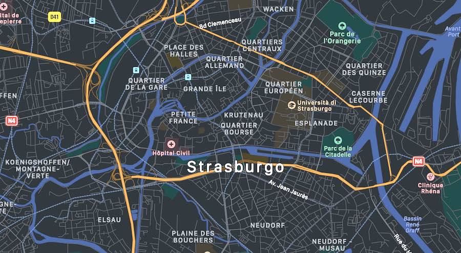 Le 10 cose da vedere a Strasburgo, mappa