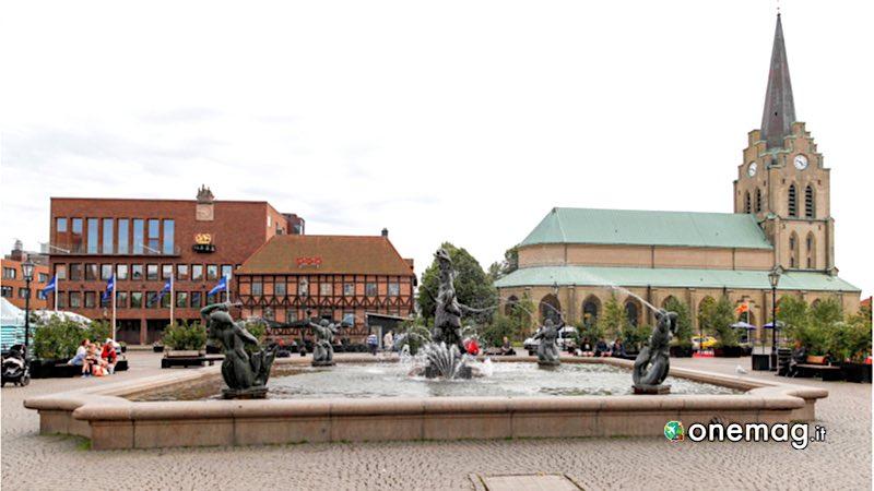 Halmstad, la piazza principale