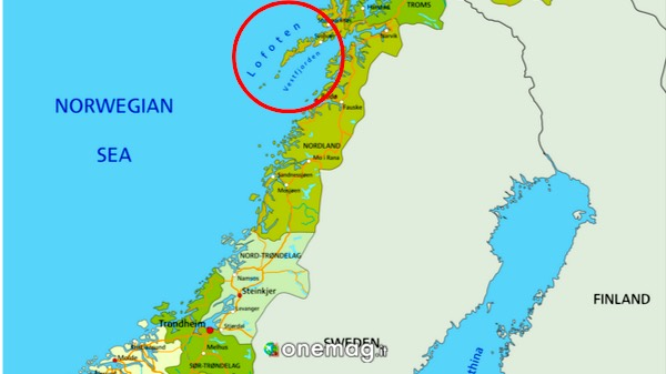 Cosa vedere alle isole Lofoten, Mappa