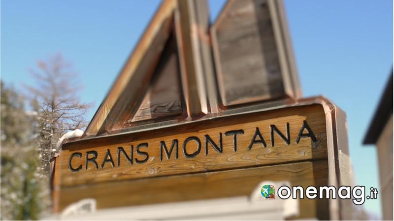 Cosa vedere a Crans-Montana, cartello