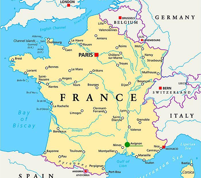 Mappa di Avignone, Francia