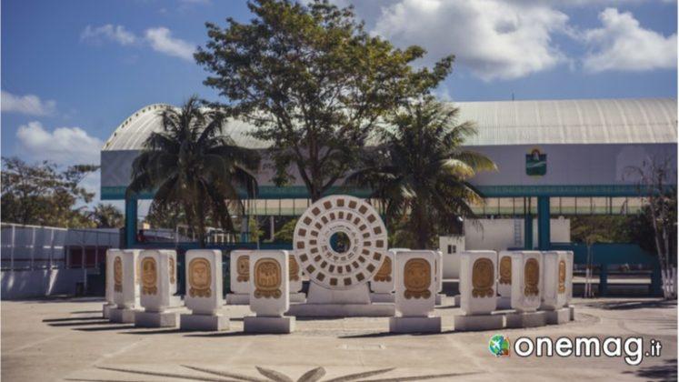 Piazza centrale di Tulum