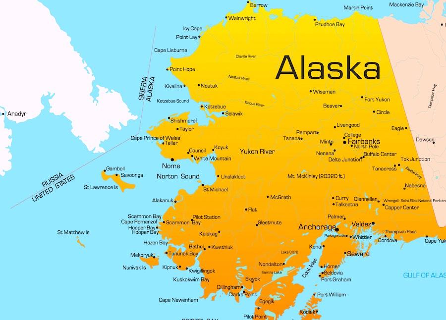 Alaska, mappa
