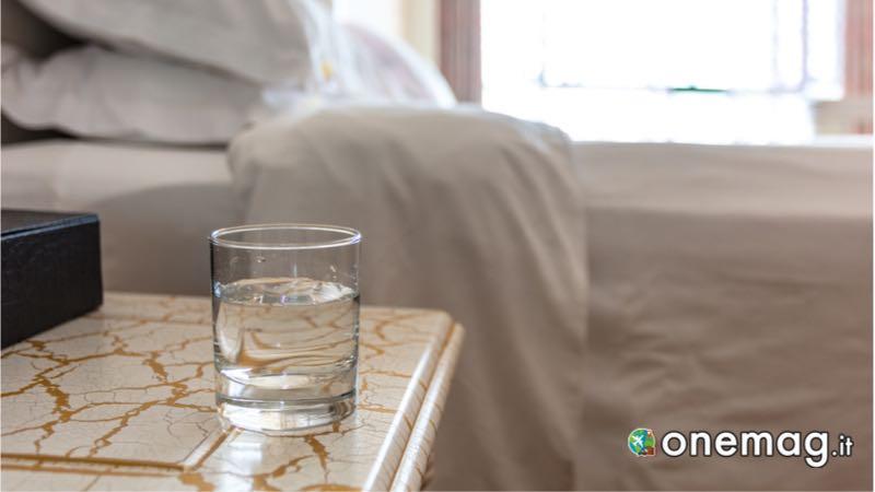 Bicchiere in albergo