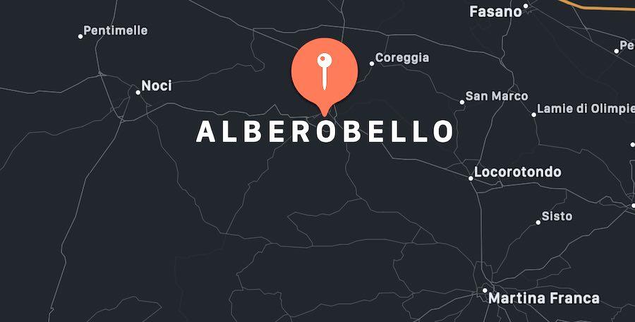 Cosa vedere ad Alberobello, mappa