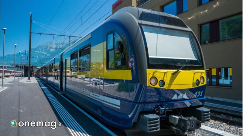 Cosa vedere a Interlaken, treno in stazione