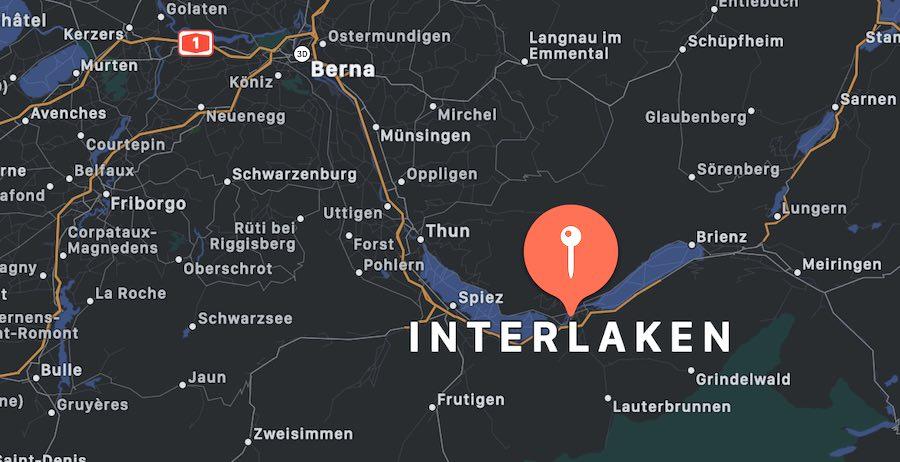 Cosa vedere a Interlaken, mappa