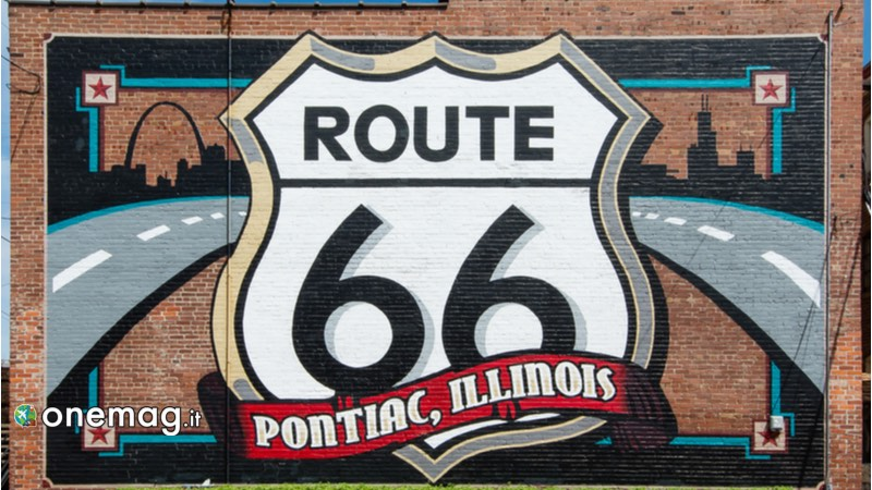 Route 66, Pontiac murales museo Hall of Fame