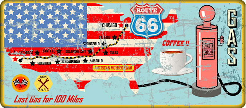Route 66, mappa