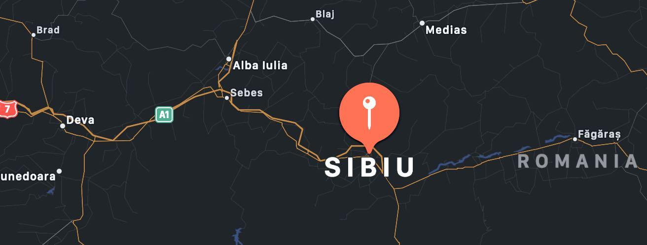 Cosa vedere a Sibiu, mappa