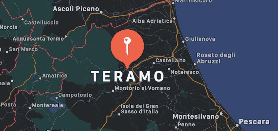 Cosa vedere a Teramo, mappa