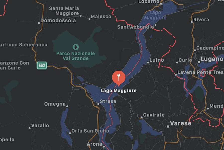 Cosa vedere sul Lago Maggiore, mappa