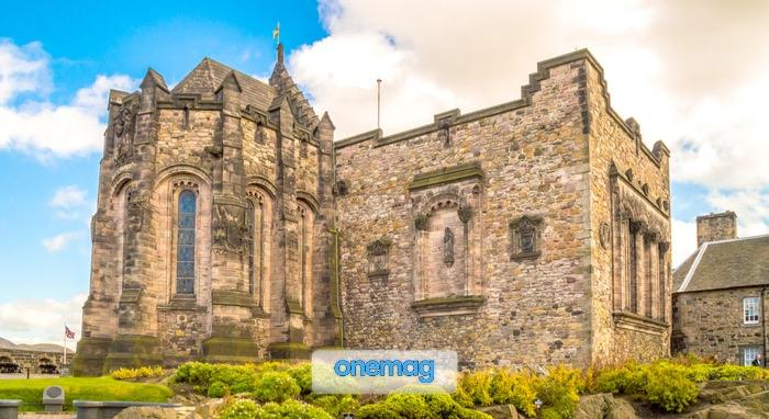 Cappella di Santa Margherita, chiesa romanica del XII secolo nel Castello di Edimburgo, Scozia