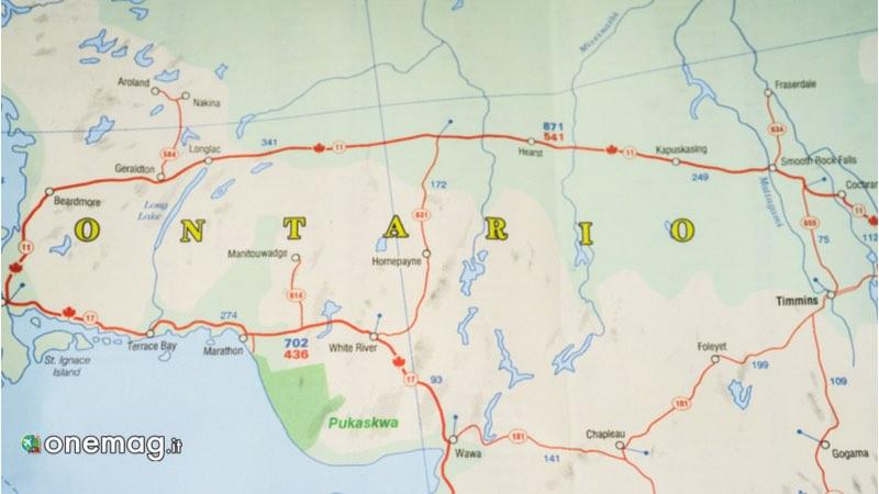 Ontario, mappa per i Parchi Nazionali del Canada