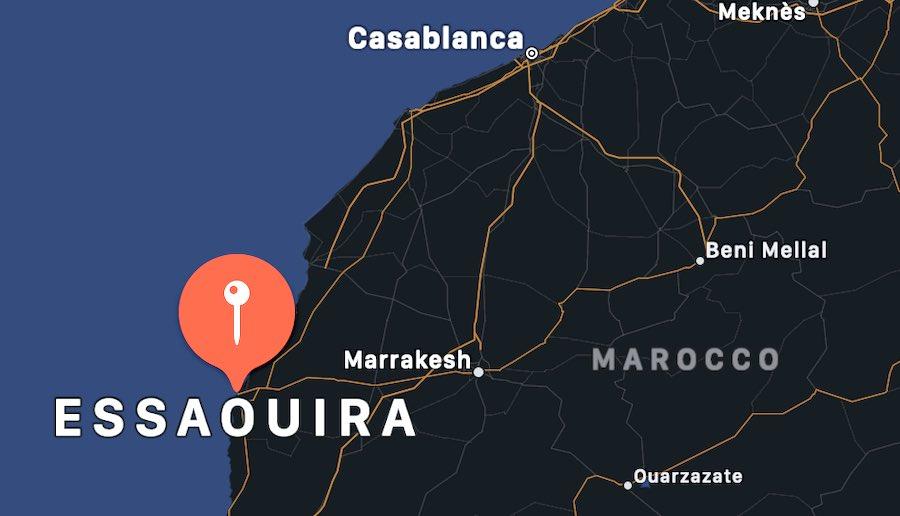 Cosa vedere a Essaouira, mappa