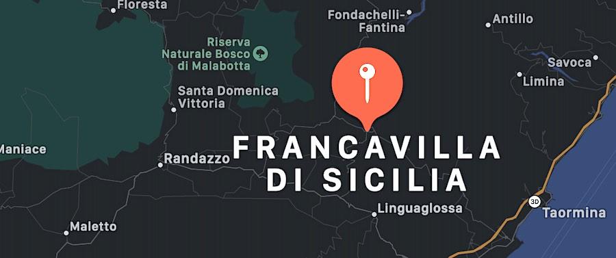 Cosa vedere a Francavilla di Sicilia, mappa