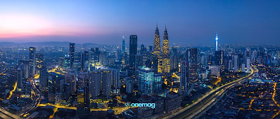 Cosa vedere in Malesia, veduta notturna Kuala Lumpur