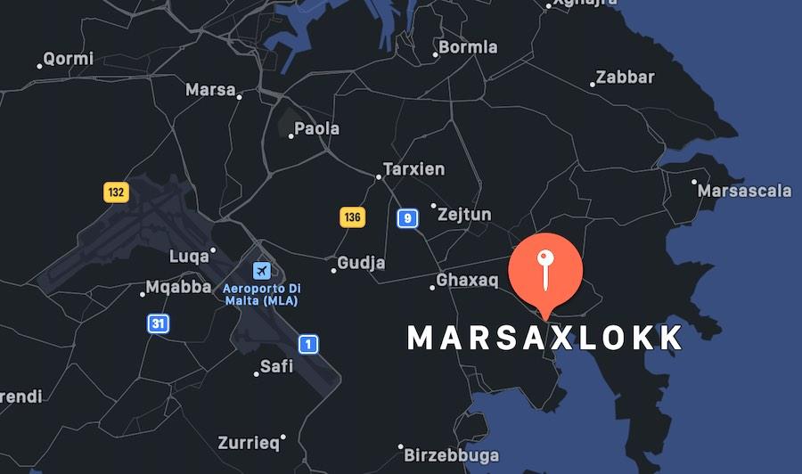 Marsa Scirocco, mappa