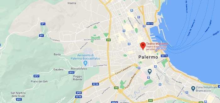 Il Teatro Massimo di Palermo, mappa