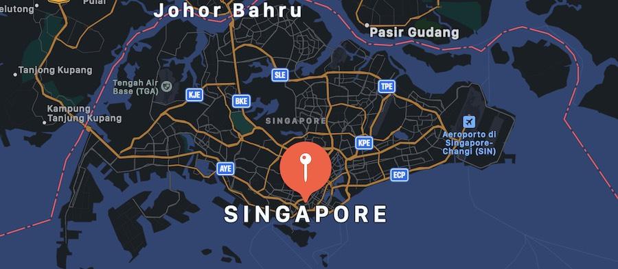L'aeroporto del futuro Singapore Changi, mappa