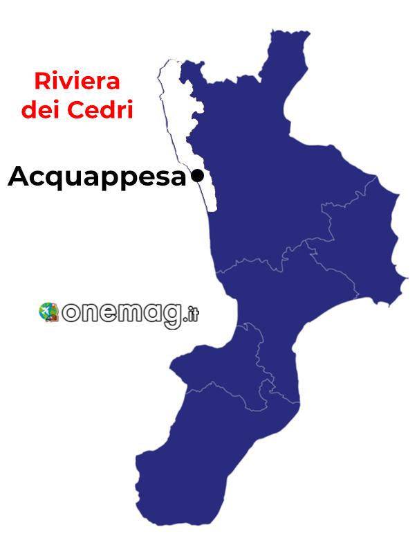 Mappa di Acquappesa, Calabria
