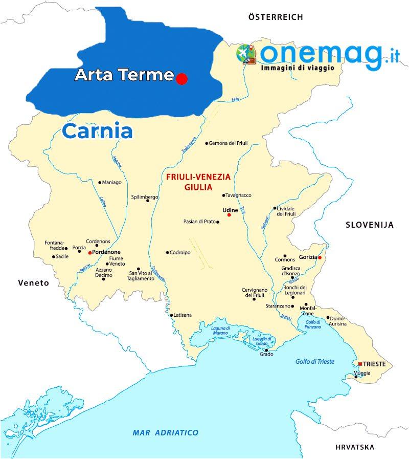 Mappa di Arta Terme, Udine