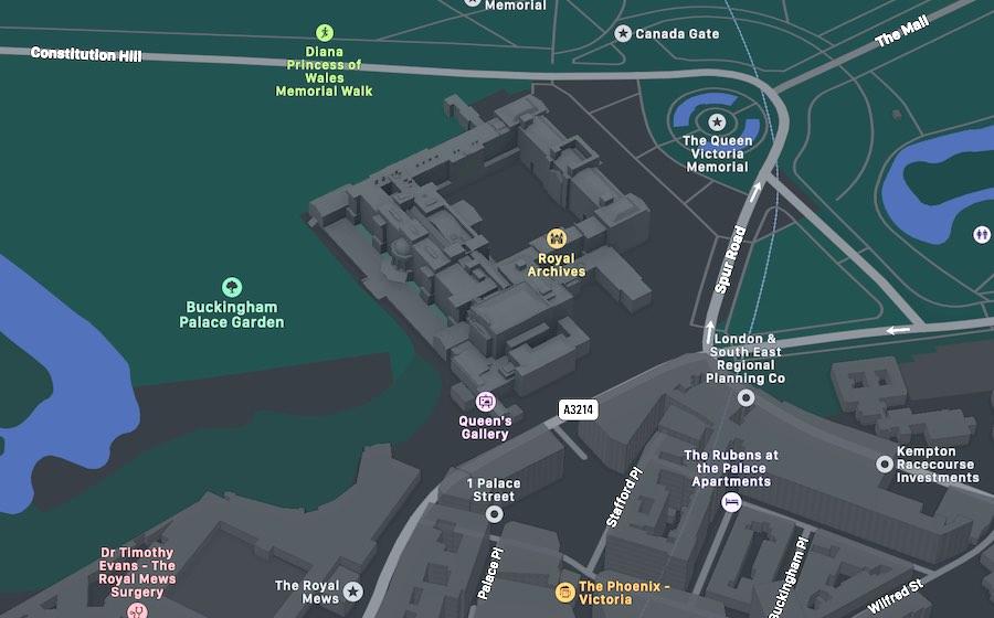 Buckingham Palace, mappa