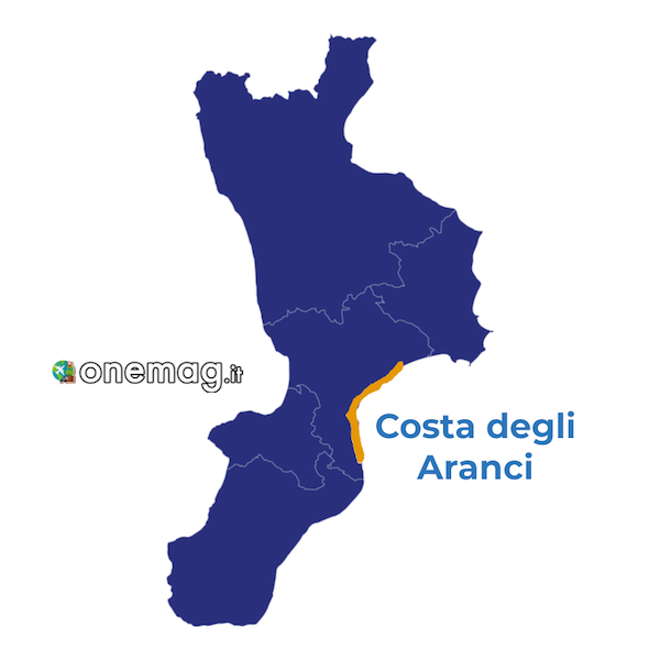 Cosa vedere nella Costa degli Aranci, mappa