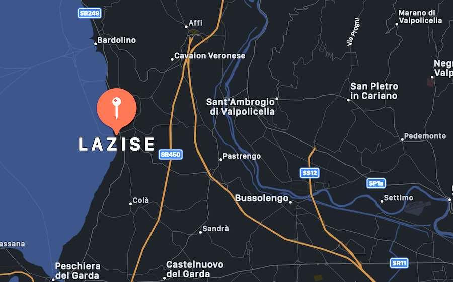 Cosa vedere a Lazise, mappa