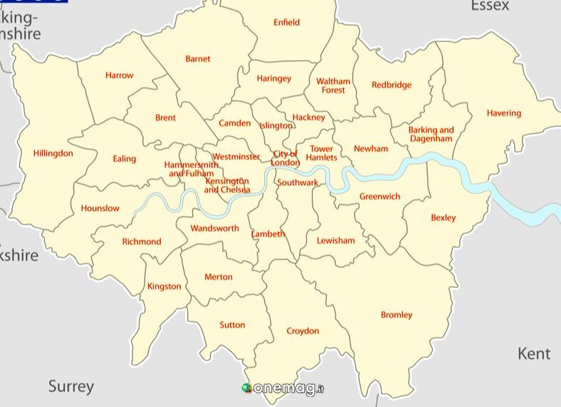 Cosa vedere a Londra, la mappa