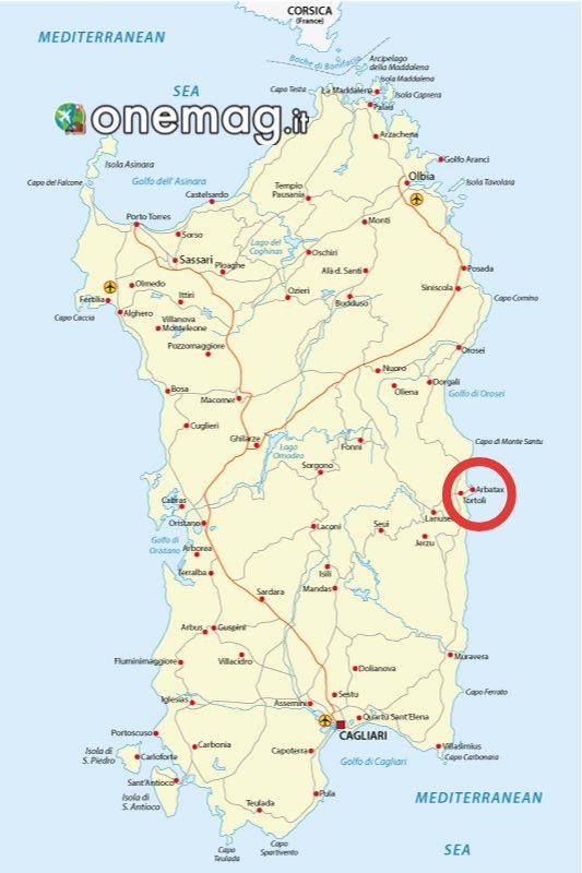 Mappa di Arbatax, Sardegna