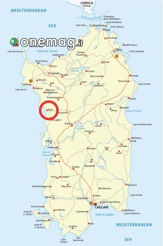Mappa Bosa, Sardegna