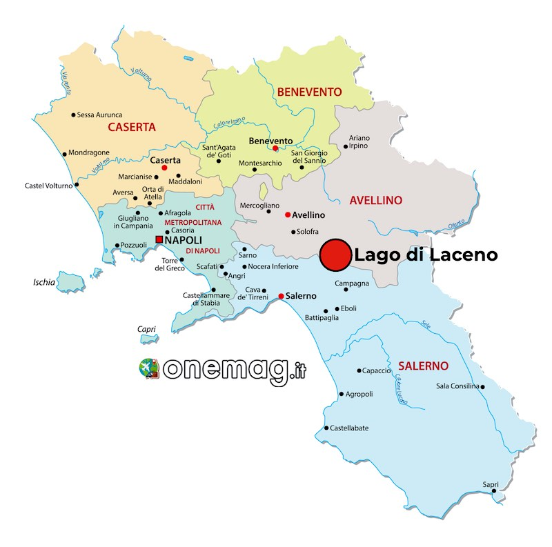 Mappa Lago di Laceno