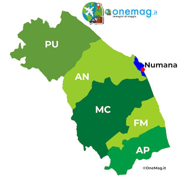 Cosa vedere a Numana, mappa