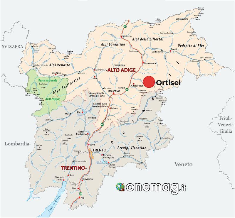 Mappa Ortisei