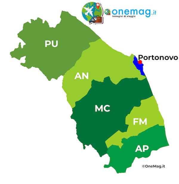 Cosa vedere a Portonovo, mappa