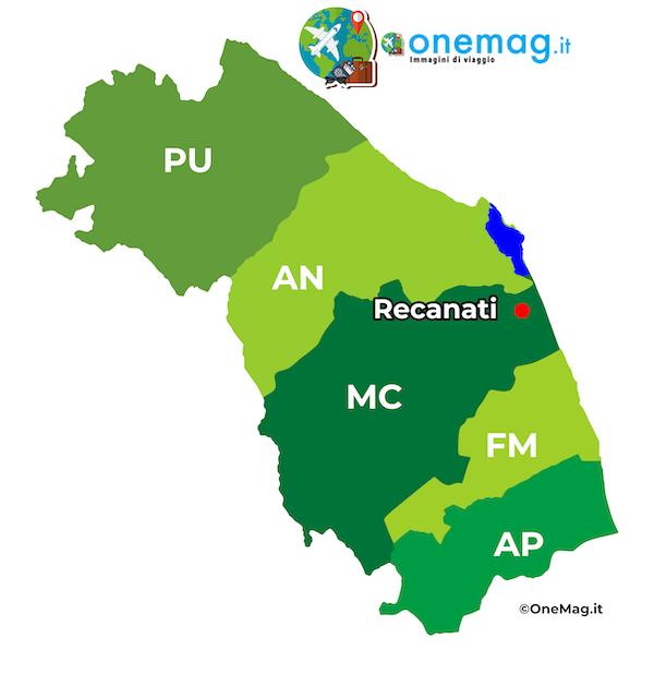 Mappa di Recanati