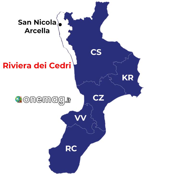 Cosa vedere a San Nicola Arcella, mappa