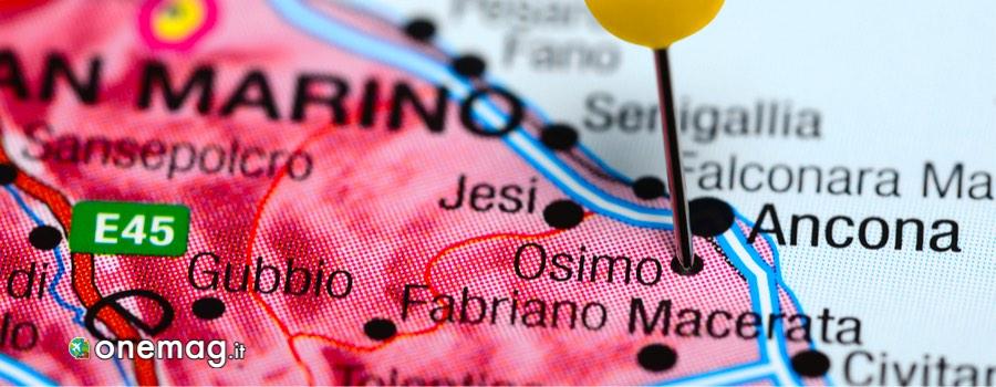 Cosa vedere a Osimo, mappa