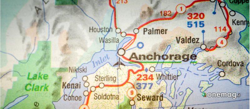 Cosa vedere ad Anchorage, mappa