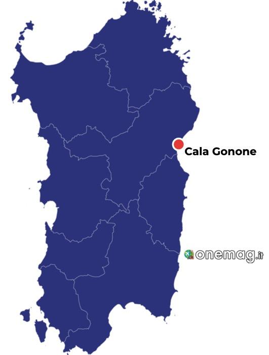 Mappa di Cala Gonone