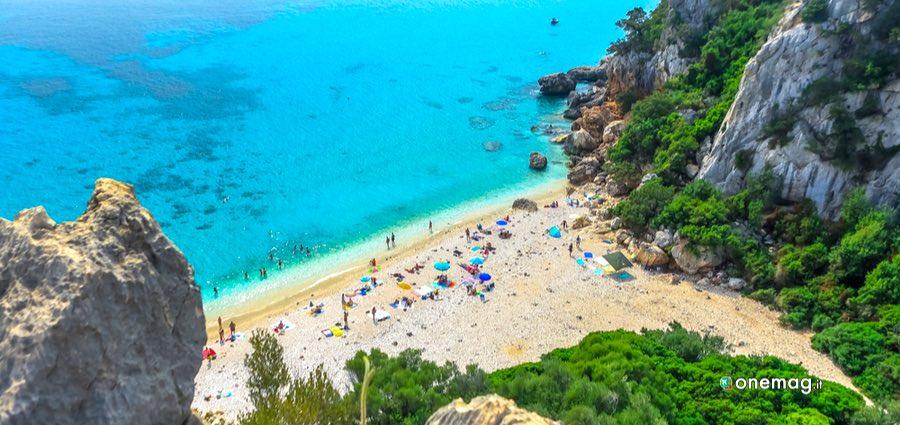 Le spiagge di Cala Gonone, veduta