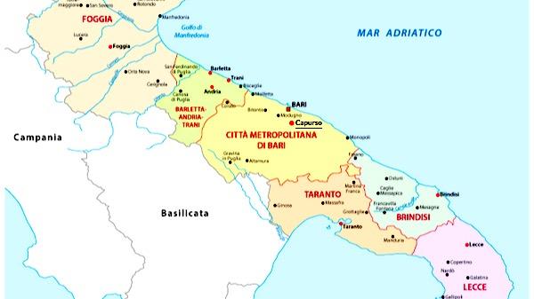 Cosa vedere a Capurso, mappa